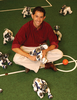Dr. Peter Stone has been awarded a 2008 Guggenheim Fellowship for his work on teams of mobile robots.