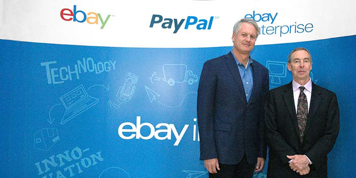 Joh Donahoe, CEO of eBay, Inc. with Bruce Porter, Chair of UTCS