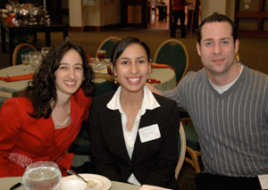 Tiffany Grady, Amanda Nunez, and Dustin Stites (Amazon.com) at the 2008 Scholarship Lunch