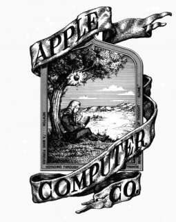 Apple's First Logo, from Wikimedia Commons