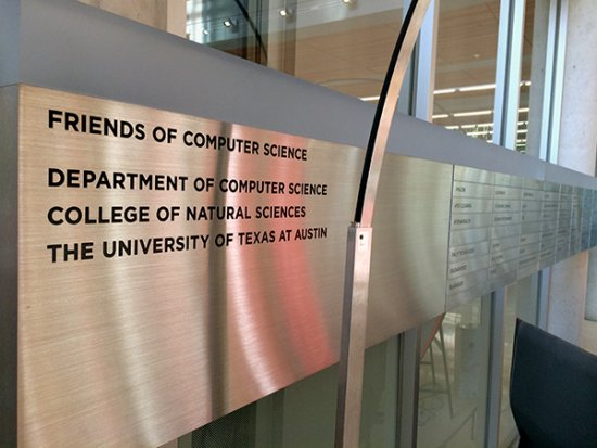FoCS plaque in GDC Atrium