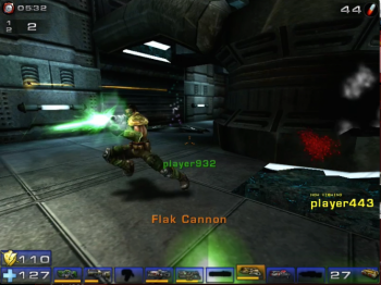 The Unreal Tournament 2004 videogame is a fast-paced first-person shooter game.