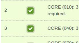 Core curriculum checklist