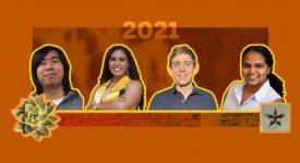 UTCS students and Dean's Honored Graduate's James Dong, Marissa Elise Chabella Jenkins, Niklas Lauffer, and Nivedhitha Selvaraj