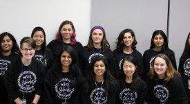 Women in Computer Science student organization members