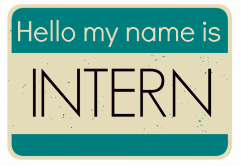 Hello my name is INTERN name tag