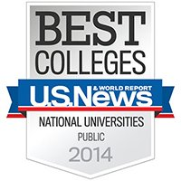 U.S. News & World Report Best Colleges - National Public Universities 2014
