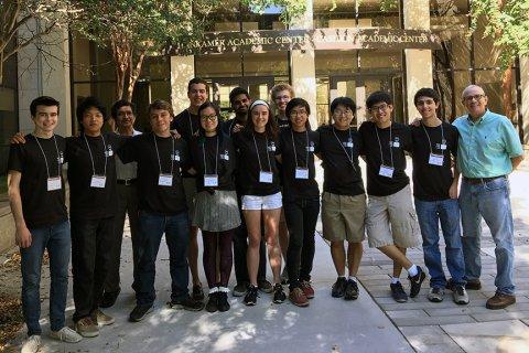 UT Programming Club students at ACM International Collegiate Programming Contest
