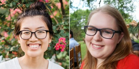Former campers, Texas Computer Science alumnae and HomeAway software engineers, Tiffany Tsai (left) and Cassie Schwendiman (right), credit First Bytes with helping lead them on their path to computer science.Texas Computer Science