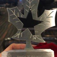 RoboCup 3D Simulation League Soccer Competition 1st Place Trophy, RoboCup 2018 Montreal, Canada