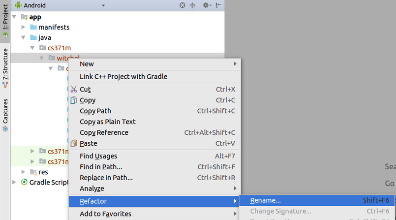 How To Find Package Name Android Studio Rename package in