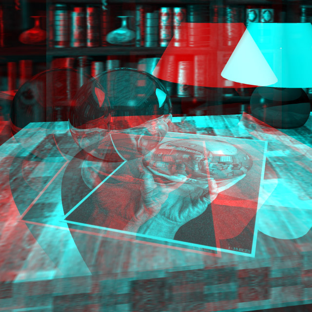 D Glasses Red And Blue Anaglyph