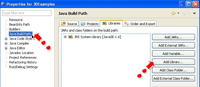Running Java3D Programs In Eclipse