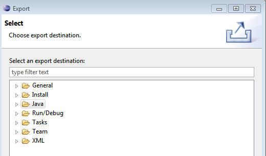Creating a zip file via Eclipse
